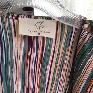 hyped unicorn Jackets & Coats - SOLD   HYPED UNICORN Stripe Blazer   Green